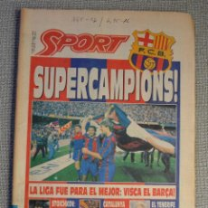 Coleccionismo deportivo: BARÇA CAMPEÓN DE LIGA 1991-92. DIARIO SPORT 8 JUNIO 1992.. Lote 54505043
