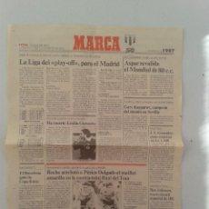 Coleccionismo deportivo: EXTRA BODAS DE ORO DIARIO MARCA 50 ANIVERSARIO , LAS NOTICIAS DE 1987. Lote 54545195