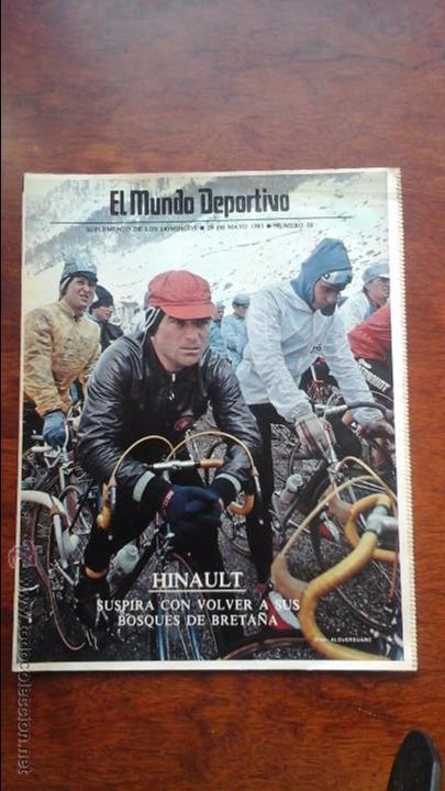 SUPLEMENTO DE LOS DOMINGOS MUNDO DEPORTIVO N° 20 AÑO 1983.HINAULT.CICLISMO (Coleccionismo Deportivo - Revistas y Periódicos - Mundo Deportivo)