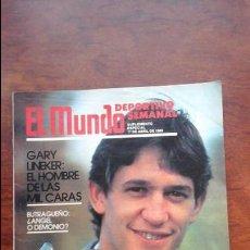 Coleccionismo deportivo: SUPLEMENTO EDICION ESPECIAL MUNDO DEPORTIVO AÑO 1988.GARY LINEKER. Lote 54582668