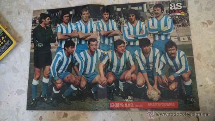 Coleccionismo deportivo: AS COLOR.1975.N 233.POSTER DEPORTIVO ALAVES.1975-76.POSTER QUINI.SPORTING DE GIJON. - Foto 2 - 54170594