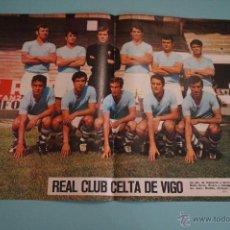 Collezionismo sportivo: POSTER DE FÚTBOL CELTA DE VIGO AÑOS 70 DE AS COLOR. Lote 54690028