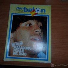 Coleccionismo deportivo: DON BALON N 347 1982 PORTADA MARADONA COLOR ARCONADA ZAMORA ALONSO REAL SOCIEDAD URQUIAGA ATHLETIC . Lote 54713092