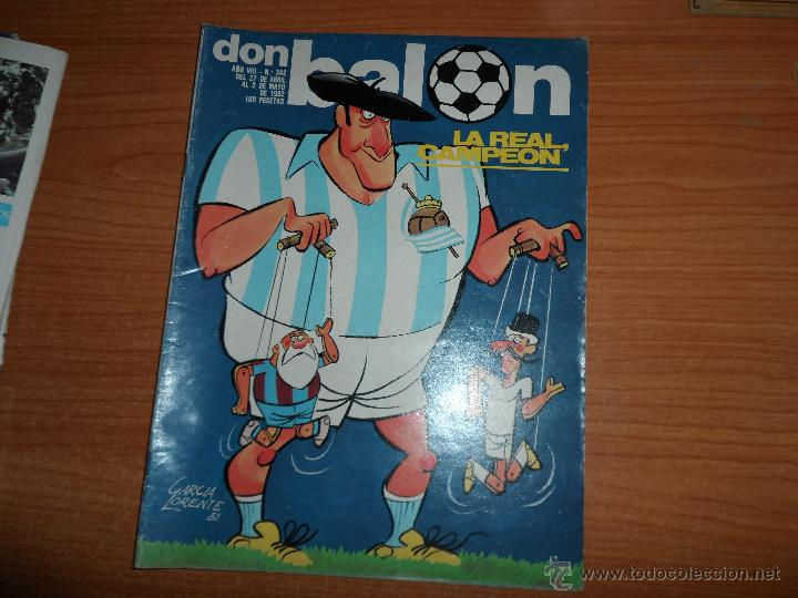 DON BALON Nº 342 1982 COLOR REAL SOCIEDAD CAMPEON DE LIGA - RECOPA BARCELONA VS TOTTENHAM (Coleccionismo Deportivo - Revistas y Periódicos - Don Balón)