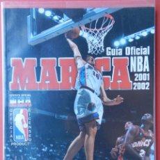 Coleccionismo deportivo: REVISTA OFICIAL GUIA MARCA NBA 01/02 EXTRA SUPLEMENTO ESPECIAL 2001/2002 POSTER GASOL JORDAN. Lote 54800872