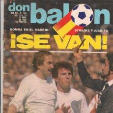 Coleccionismo deportivo: DON BALÓN. Nº 340. STIELIKE Y JUANITO, SE VAN. 19 ABRIL 1982. (P/B30). Lote 54843018