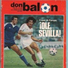 Coleccionismo deportivo: DON BALÓN. Nº 362. ¡OLE, SEVILLA!. 27 SEPTIEMBRE 1982. (P/B30). Lote 54843209