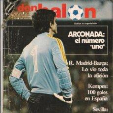 Coleccionismo deportivo: DON BALÓN. Nº 373. ARCONADA: EL NÚMERO UNO. 6 DICIEMBRE 1982. (P/B30). Lote 54843321