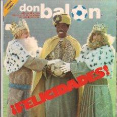 Coleccionismo deportivo: DON BALÓN. Nº 376. ¡FELICIDADES!. 27DICIEMBRE 1982. (P/B30). Lote 54843394