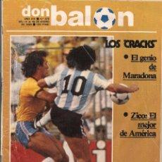 Coleccionismo deportivo: DON BALÓN. Nº 379. LOS ¨CRACKS¨ . 18 ENERO 1983. (P/B30). Lote 54843447