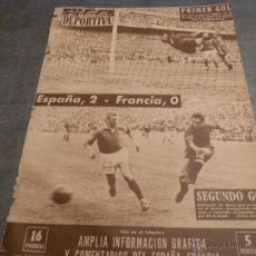 Collectionnisme sportif: VIDA DEPORTIVA Nº:812(3-4-61) ESPAÑA 2 FRANCIA 0 EN EL SANTIAGO BERNABEU-FOTOS. Lote 54851745