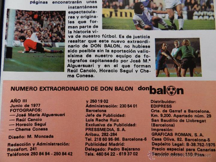 Coleccionismo deportivo: REVISTA DON BALON EXTRA LAS MEJORES FOTOS DEL FUTBOL ESPAÑOL - JUNIO 1977 RESUMEN LIGA 76/77 - Foto 8 - 54910109