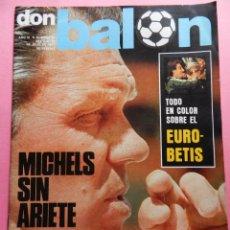 Coleccionismo deportivo: REVISTA DON BALON Nº 91 REAL BETIS BALOMPIE CAMPEON COPA DEL REY 76/77 ESPECIAL 1976/1977 ATHLETIC. Lote 54918194