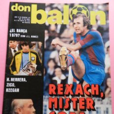Colecionismo desportivo: REVISTA DON BALON Nº 133 FC BARCELONA CAMPEON COPA DEL REY 77/78 LAS PALMAS 1977/1978 POSTER REXACH. Lote 54925656