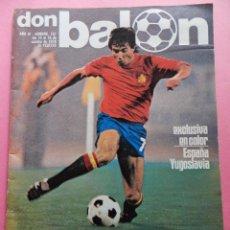 Coleccionismo deportivo: REVISTA DON BALON Nº 157 POSTER SELECCION ESPAÑOLA 1978 - CLASIFICACIÓN EUROCOPA 80 - ESPAÑA 78. Lote 54929279