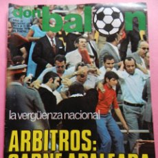 Coleccionismo deportivo: REVISTA DON BALON Nº 165 POSTER REAL MADRID 78/79 - ALINEACION LIGA TEMPORADA 1978/1979 FUTBOL. Lote 54929325