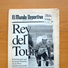 Coleccionismo deportivo: CICLISMO - DIARIO MUNDO DEPORTIVO DE FECHA 29-7-1991 - MIGUEL INDURAIN CAMPEÓN DEL TOUR 1991. Lote 54979424