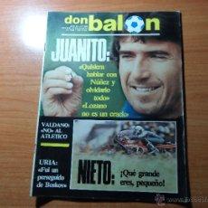 Coleccionismo deportivo: DON BALON Nº 409 1983 REPORTJE COLOR PLANTILLAS BARCELONA , ZARAGOZA, ESPAÑOL Y SPORTING GIJON 83 84. Lote 54998132