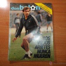 Coleccionismo deportivo: DON BALON Nº 438 1984 PORTADACOLOR QUINI - SATRUSTEGUI REAL SOCIEDAD -SANTILLANA REAL MADRID . Lote 55007135