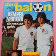 Coleccionismo deportivo: REVISTA DON BALON Nº 250 VALENCIA CF 80/81 POSTER - SELECCION ESPAÑOLA JJOO MOSCU- KEMPES - IDIGORAS. Lote 214076683