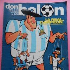 Coleccionismo deportivo: REVISTA DON BALON Nº 342 REAL SOCIEDAD CAMPEON DE LIGA 81/82 - ESPECIAL 1981/1982 ARCONADA. Lote 55019038