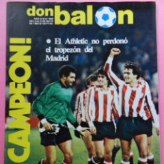 Coleccionismo deportivo: REVISTA DON BALON Nº 395 ATHLETIC CLUB BILBAO CAMPEON LIGA 82/83 - TEMPORADA FUTBOL 1982-1983. Lote 55024651
