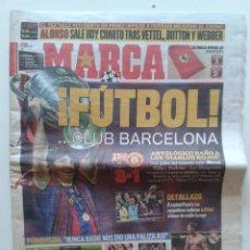 Coleccionismo deportivo: PERIODICO DIARIO MARCA 29 MAYO 2011 BARCELONA CAMPEON DE LA CHAMPIONS LEAGUE 3-1 MESSI VILLA PEDRITO. Lote 55033606