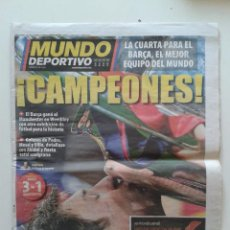 Coleccionismo deportivo: PERIODICO DIARIO EL MUNDO DEPORTIVO 29 MAYO 2011 BARCELONA CAMPEON DE LA CHAMPIONS LEAGUE 3-1 MESSI. Lote 55033869