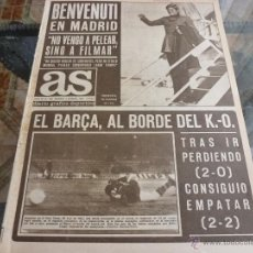 Coleccionismo deportivo: AS (6-2-69)RECOPA EUROPA BARÇA 2 LYNN OSLO 2,GEORGE BEST,CRYSTAL PALACE,CAGLIARI-FOTOS. Lote 55052553