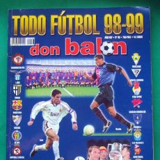 Coleccionismo deportivo: REVISTA DEPORTIVA . DON BALÓN . TODO FUTBOL 98-99. Lote 55137610