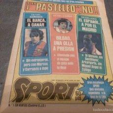 Coleccionismo deportivo: SPORT(29-4-84)HOY ESPAÑOL-R.MADRID Y AT.MADRID-BARÇA-FOTOS. Lote 55216745