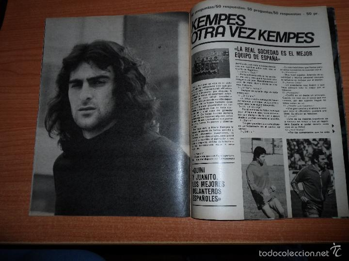 Coleccionismo deportivo: DON BALON N 224 1980 REPORTAJE COLOR MIGUEL ANGEL REAL MADRID KEMPES SOLSONA VALENCIA OLIVEIRA BETIS - Foto 3 - 54207458