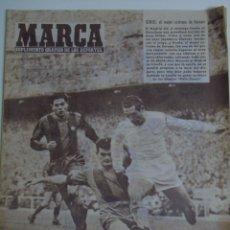 Coleccionismo deportivo: PERIÓDICO DE DEPORTES. DIARIO MARCA. 776 15 OCTUBRE 1957. PACO GENTO. REAL MADRID VS BARCELONA 90 GR. Lote 55814138