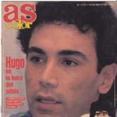 Collectionnisme sportif: REAL MADRID, ADIOS HUGO SÁNCHEZ, AS COLOR 275, 19 MAYO 1991, BIOGRAFÍA MARADONA. Lote 55926027