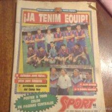 Coleccionismo deportivo: SPORT JULIO1988. CRUYFF PRESENTA SU NUEVO EQUIPO. Lote 56004110