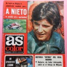 Coleccionismo deportivo: REVISTA AS COLOR Nº 320 POSTER REAL BETIS BALOMPIE CAMPEON COPA DEL REY 76/77 ALINEACION 1976/1977. Lote 56109719