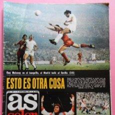 Collectionnisme sportif: REVISTA AS COLOR Nº 330 POSTER VALENCIA CF 77/78 ALINEACION LIGA TEMPORADA 1977/1978 MANZANEDO. Lote 56109842