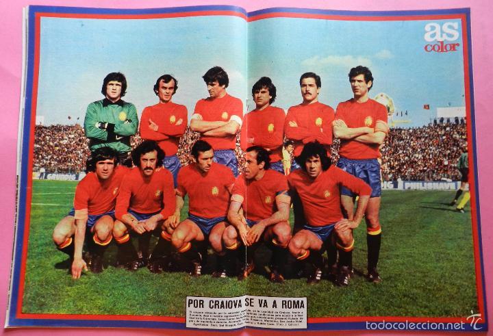 REVISTA AS COLOR Nº 413 POSTER SELECCION ESPAÑOLA 1979 ALINEACION ESPAÑA 79 REAL MADRID ATLETICO (Coleccionismo Deportivo - Revistas y Periódicos - As)