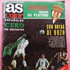 Coleccionismo deportivo: REVISTA AS COLOR Nº 464 ESPECIAL 75 ANIVERSARIO SPORTING GIJON 79/80 POSTER PLATINO AÑOS 1979/1980. Lote 56116083