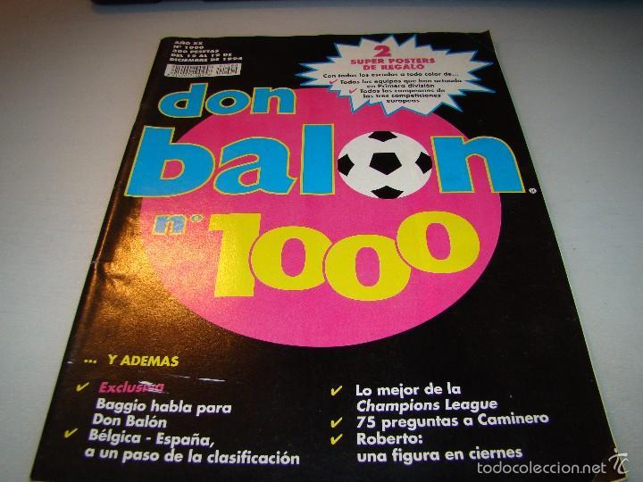 DON BALÓN Nº 1000 - CONTIENE PÓSTERS (Coleccionismo Deportivo - Revistas y Periódicos - Don Balón)
