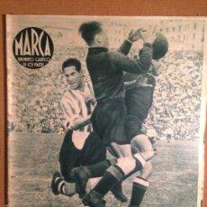 Coleccionismo deportivo: SUPLEMENTO GRÁFICO MARCA - 1941 - EL ATHLETIC DE BILBAO ELIMINA EN CUARTOS AL ATLETICO DE AVIACION. Lote 56217938