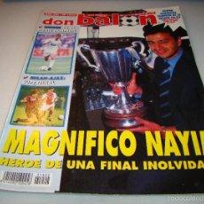 Coleccionismo deportivo: DON BALÓN Nº 1022 - NAYIM - PÓSTER ZARAGOZA RECOPA 94-95. Lote 56219117