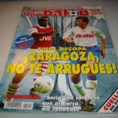 Coleccionismo deportivo: DON BALÓN Nº 1021 - FINAL RECOPA ZARAGOZA- PÓSTER CUELLAR . Lote 56219153