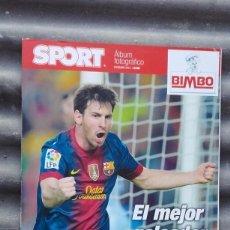 Coleccionismo deportivo: ESPECIAL ÁLBUM FOTOGRÁFICO SPORT 86 GOLES LEO MESSI RÉCORD MARCADOS 2012 FÚTBOL CLUB BARCELONA BARÇA. Lote 130583835