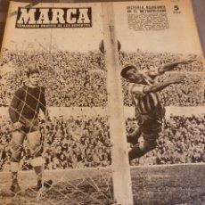 Coleccionismo deportivo: MARCA(8-2-55)RACING SANTANDER GOLEADO POR R.MADRID,KUBALA CONTENTO CON SU FORMA,1ª,2ª DIVIS.-FOTOS. Lote 56570906