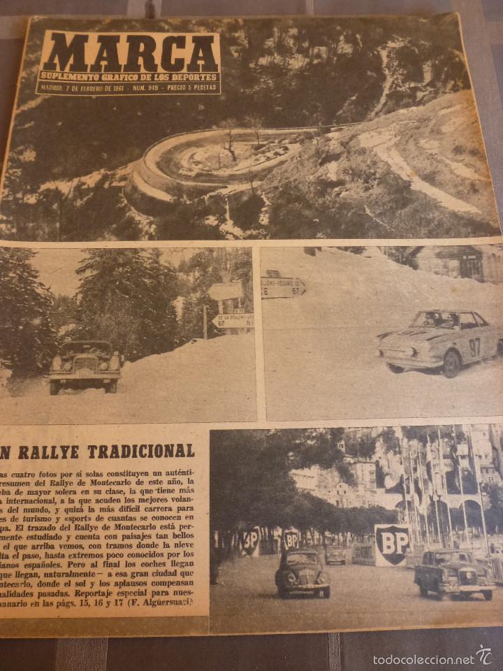 MARCA(7-2-61)LIGA EN 1ª DIVISION,FUTBOL POR EL MUNDO,BRIGHTON-BURNLEY,HIPODROMO ZARZUELA-FOTOS (Coleccionismo Deportivo - Revistas y Periódicos - Marca)
