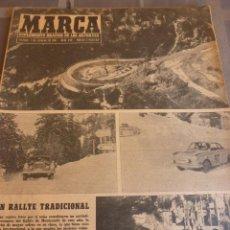 Coleccionismo deportivo: MARCA(7-2-61)LIGA EN 1ª DIVISION,FUTBOL POR EL MUNDO,BRIGHTON-BURNLEY,HIPODROMO ZARZUELA-FOTOS. Lote 56575142