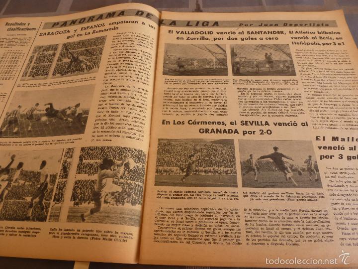 Coleccionismo deportivo: MARCA(7-2-61)LIGA EN 1ª DIVISION,FUTBOL POR EL MUNDO,BRIGHTON-BURNLEY,HIPODROMO ZARZUELA-FOTOS - Foto 4 - 56575142
