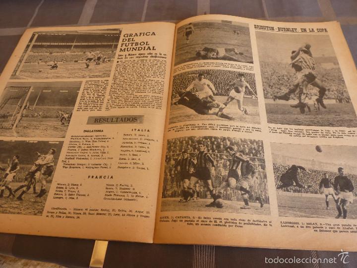 Coleccionismo deportivo: MARCA(7-2-61)LIGA EN 1ª DIVISION,FUTBOL POR EL MUNDO,BRIGHTON-BURNLEY,HIPODROMO ZARZUELA-FOTOS - Foto 5 - 56575142