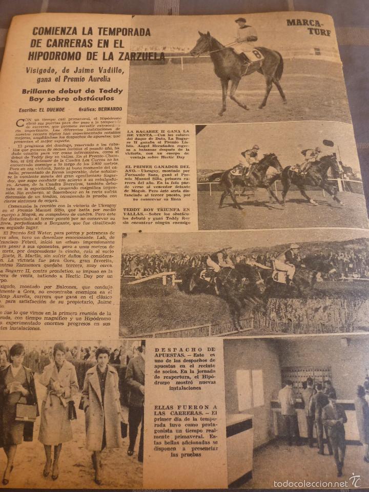 Coleccionismo deportivo: MARCA(7-2-61)LIGA EN 1ª DIVISION,FUTBOL POR EL MUNDO,BRIGHTON-BURNLEY,HIPODROMO ZARZUELA-FOTOS - Foto 6 - 56575142